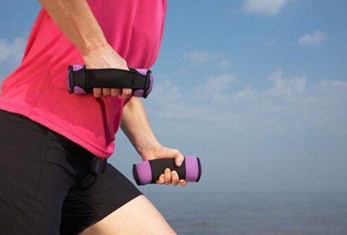 Photo of woman exercising.