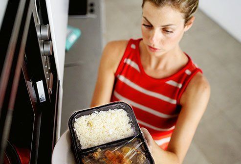 All your microwave does is make the water molecules in food move, which creates friction that heats it up.