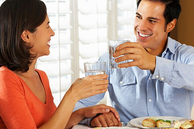 To control your eating, slow down. Chew slowly and drink water.