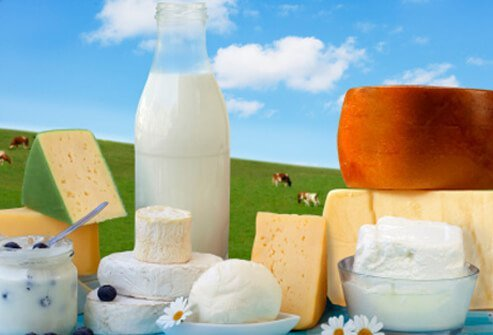 Whole-milk products contain ample amounts of fat and cholesterol.
