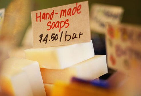 Steer clear of soaps that have preservatives.