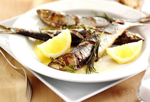 Photo of grilled sardines.