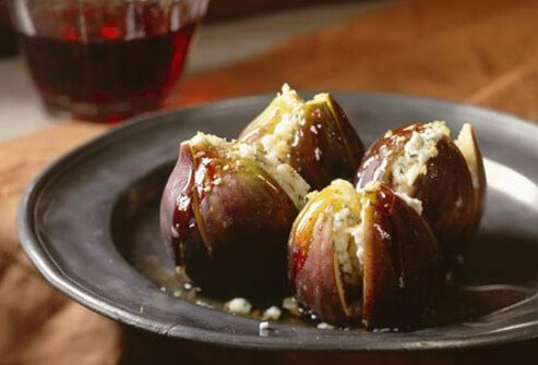 Photo of stuffed figs.