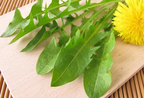 Photo of plate with dandelion greens.