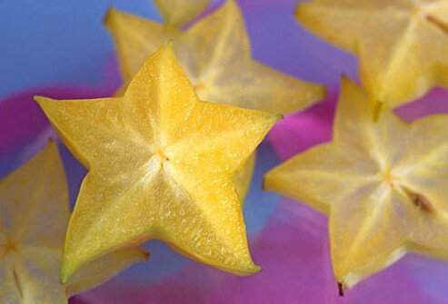 Exotic star-shaped fruit.