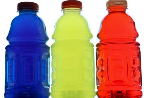 Sports drinks bottles.