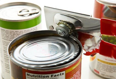 Photo of canned foods.