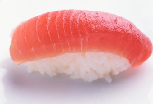 Photo of tuna sushi.