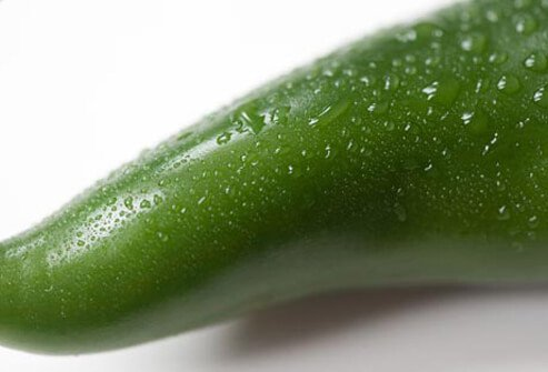 Photo of green chili pepper.