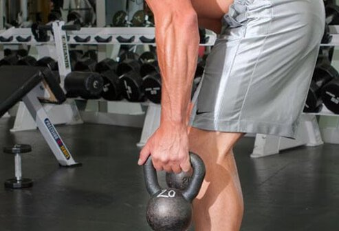 Photo of kettlebell workout.