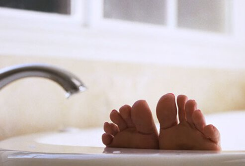 A relaxing bath can help you drift off to sleep.