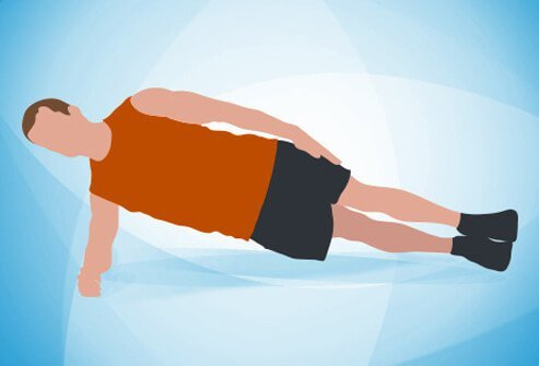 Lie on your right side on a mat, with your legs straight and your left leg stacked directly on top of the right.
