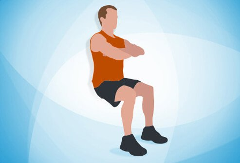 There are 12 exercises. Each should take 30 seconds, with a 10-second break.
