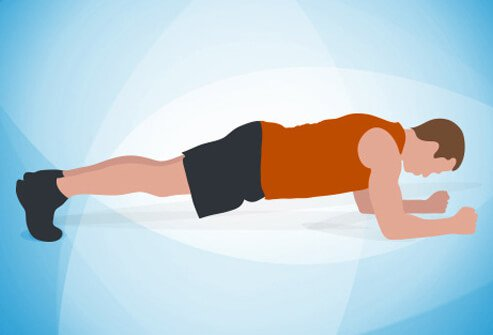 Lie on your stomach on an exercise mat, with your elbows close to your sides, palms down and fingers facing forward.