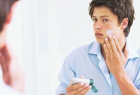 Follow your prescribed acne treatment regimen as directed.