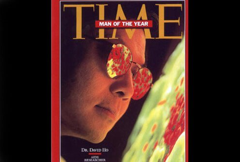 Dr. David Ho, early champion of 'cocktails,' was Time's 1996 Man of the Year.