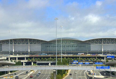 7. (tie) San Francisco International Airport: Score 77%