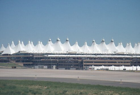 6. Denver International Airport: Score 79%