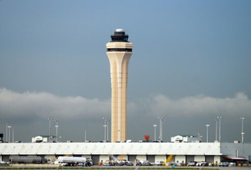 9. (tie) Miami International Airport: Score 75%