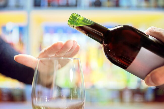 Drinking alcohol is not good for men or women trying to conceive.