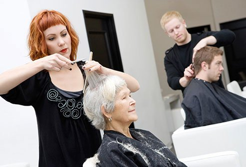 Choose the right haircut and style to make gray hair appear fuller and thicker.