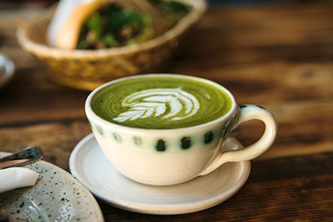Matcha latte can be prepared with any type of milk.