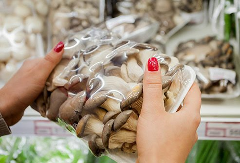 Mushrooms provide B vitamins, copper, selenium, and other nutrients.
