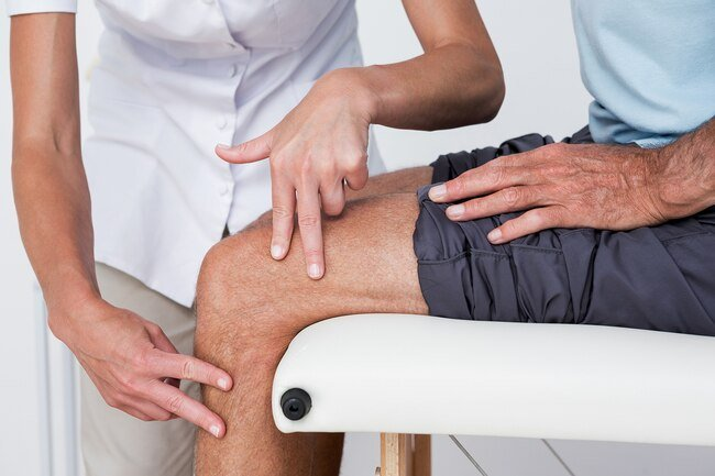 The first step is to get the kneecap back in the groove at the bottom of your thighbone.