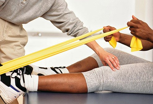 Physical therapy builds strength and improves range of motion.
