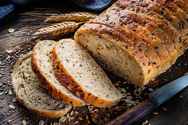 The whole grains in bread can be a good source of nutrition and fiber.
