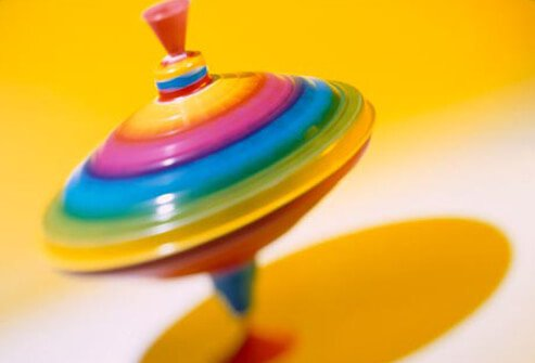 A colorful spinning top.