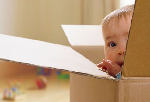 Baby Development - 12 Ways to Help Your Infant Learn & Grow slideshow S9-baby-in-box