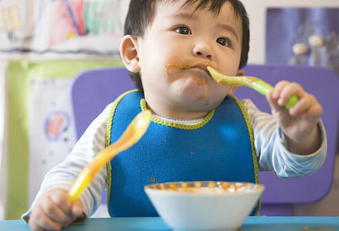 Baby Food and Nutrition - What to Feed Your Baby in Year 1 - Starting Solids slideshow S7-baby-done-eating