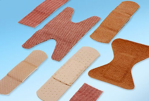 An assortment of bandage types.