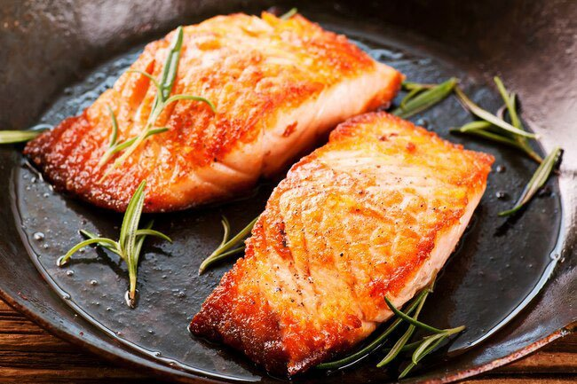 Fatty fish are high in DHA, an omega-3 fatty acid that's good for your brain.