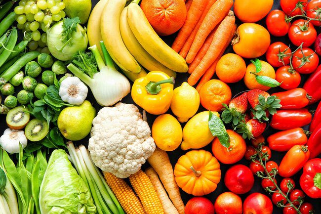Fruits that are dark, as well as those that are bright, have antioxidants.