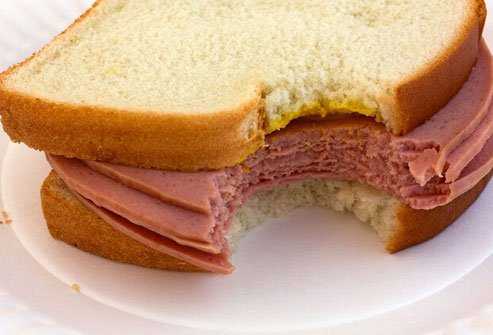Bologna is high in fat and sodium, which aren't healthy.