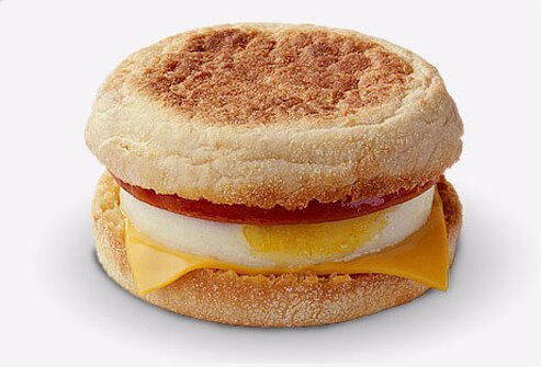 McDonald's Egg and Cheese McMuffin.