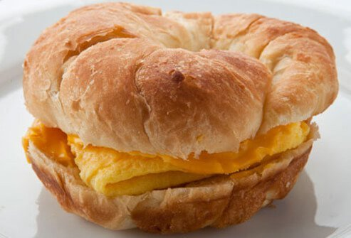 Burger King's Egg and Cheese Crossan'wich.