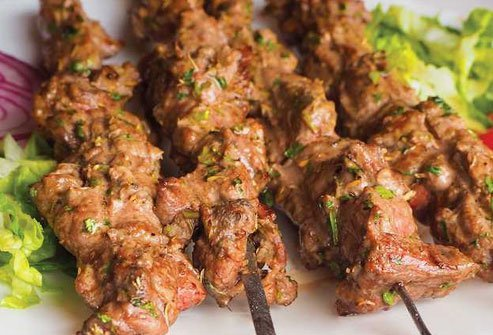 Kebabs are a smart choice to order off the Indian menu.