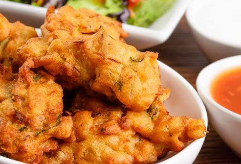 Baked pakora is healthier than the fried version.