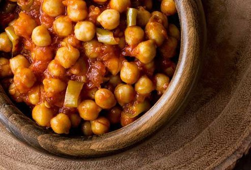 Chana masala is full of iron, folate, B vitamins, and fiber.