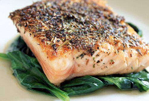 Photo of a salmon fillet.