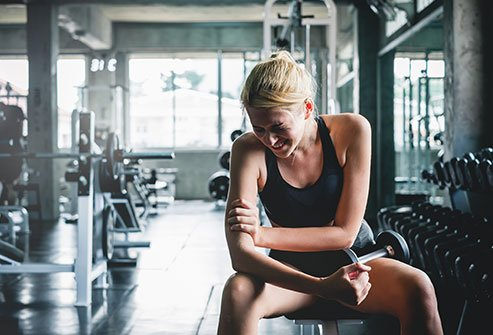 Delayed onset muscle soreness (DOMS) is muscle pain and stiffness that occurs approximately 1 to 2 days following doing a new or strenuous type of exercise.