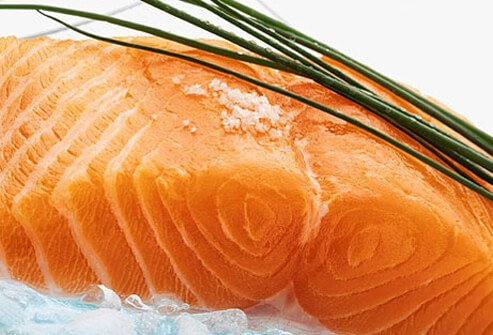 A protein source linked to a great brain boost is fish -- rich in omega-3 fatty acids that are key for brain health.