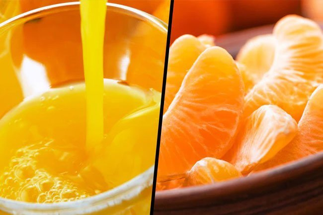 If you drink juice, drink 100% whole fruit juice with no added sugars.