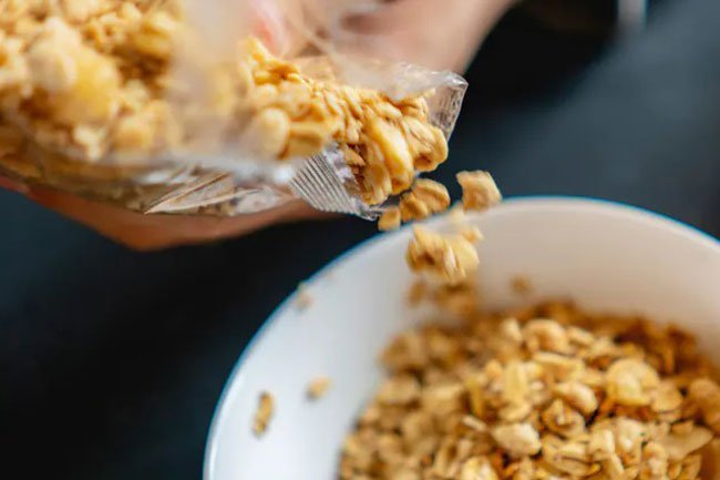 Use a measuring cup to measure out the correct portion of cereal in the morning.