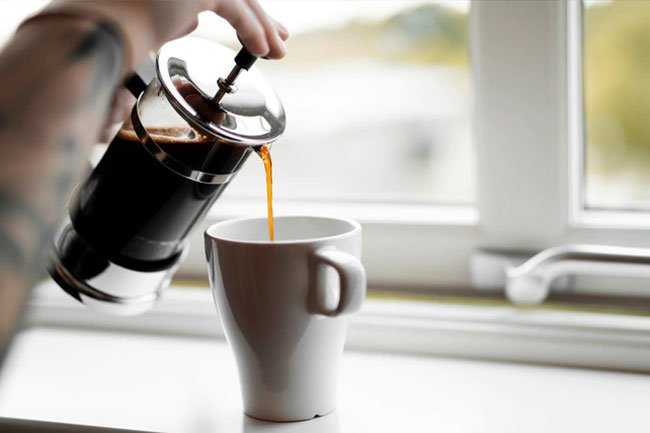 Add stevia, agave, and low- or nonfat milk to your coffee instead of sugar, cream and whole milk.