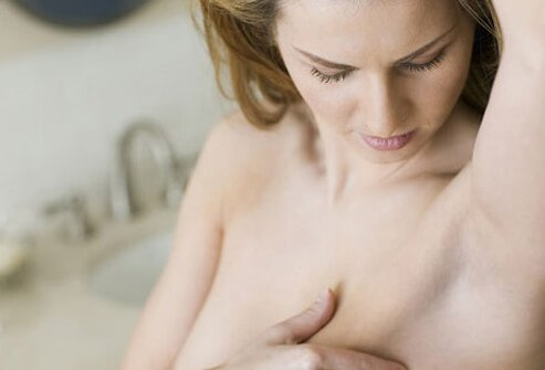 A self breast exam.