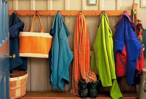 Think of the foyer as a launching pad, not a dumping ground.